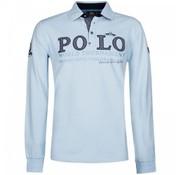 HV Society lange mouw polo Flagler ice blauw (0403102971 - 5036)