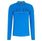 HV Society lange mouw polo Jay ultramarine blauw (0403103065 - 5084)