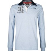 HV Society sweater Tomkins air mel. blauw (0403102884 - 5004)