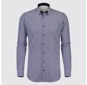 Jackett & Sons overhemd print blauw (JS8214)
