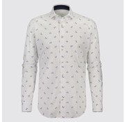Jackett & Sons overhemd print wit (JS8211)