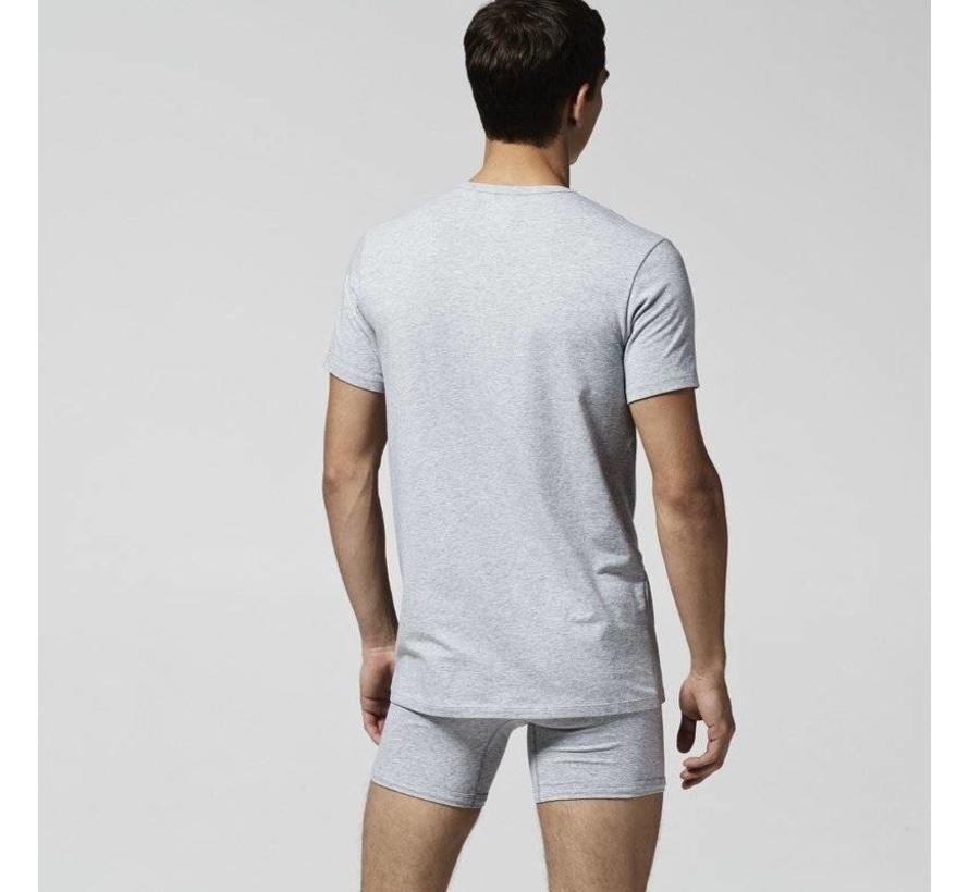 ronde hals t-shirt 2-pack grijs (148321 - 202N)