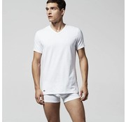Lacoste v-hals t-shirt 2-pack wit (148322 - 100N)