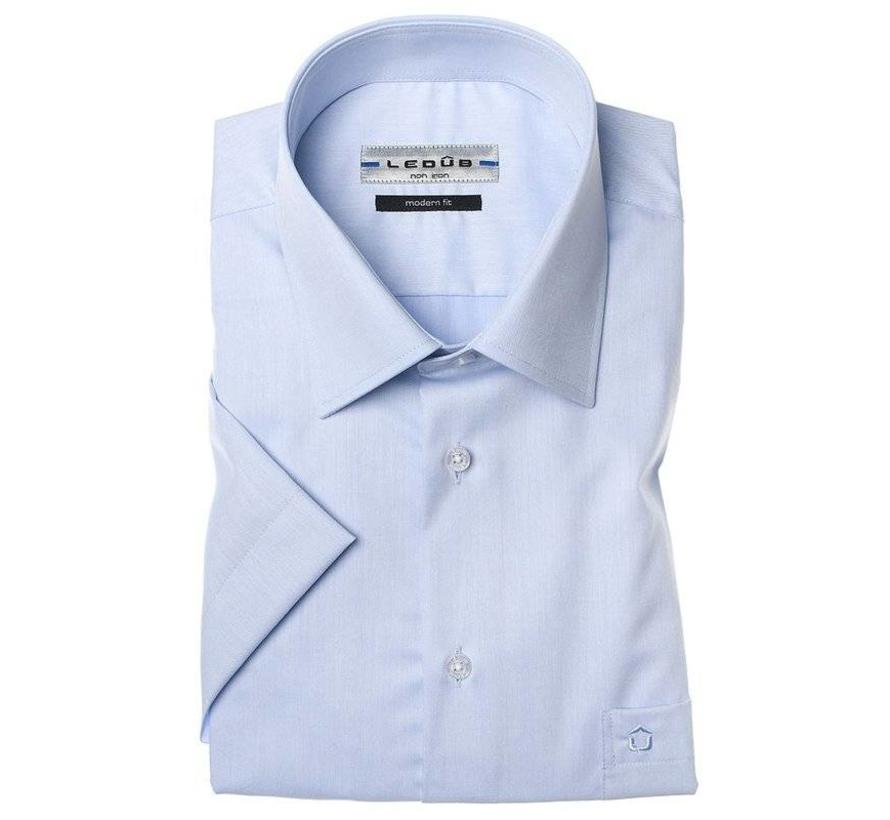 Overhemd Blauw.Ledub Korte Mouw Overhemd Blauw Modern Fit Nieuwnieuw Com Herenmode