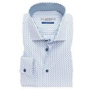 Ledub overhemd tailored fit print blauw (0137182-140-160-000)