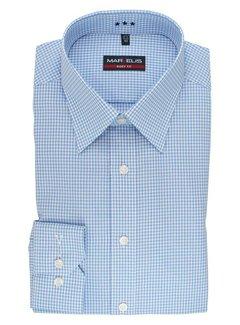 Marvelis strijkvrij overhemd body fit ruit blauw (8726-64-11N)