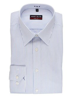 Marvelis strijkvrij overhemd body fit streep blauw (8728-64-11)