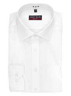 Marvelis strijkvrij overhemd body fit wit (6799-64-00N)