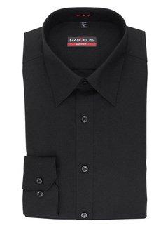 Marvelis strijkvrij overhemd body fit zwart (6799-64-68N)