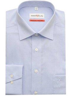 Marvelis strijkvrij overhemd comfort fit uni licht blauw (7959-64-11N)