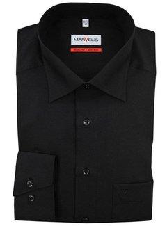 Marvelis strijkvrij overhemd comfort fit zwart (7973-64-68N)