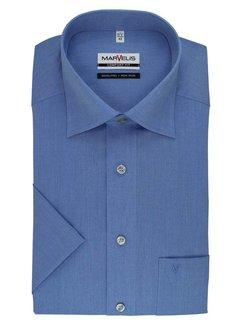Marvelis strijkvrij overhemd korte mouw comfort fit blauw (7959-12-13)