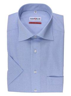 Marvelis strijkvrij overhemd korte mouw comfort fit licht blauw (7959-12-11N)