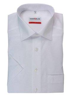 Marvelis strijkvrij overhemd korte mouw comfort fit wit (7973-12-00N)