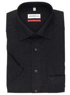Marvelis strijkvrij overhemd korte mouw zwart (7973-12-68N)
