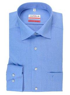 Marvelis strijkvrij overhemd modern fit uni blauw (4704-64-13N)