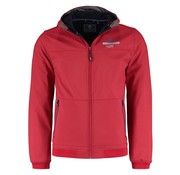 New Zealand Auckland softshell jas Paroa crimson rood (18HN870 - 617)