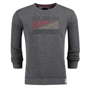 New Zealand Auckland sweater Hanmer mid grijs (18HN311 - 758)