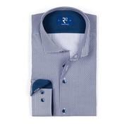 R2 Amsterdam overhemd blauw print (102.WSP.117 - 010)