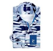 R2 Amsterdam overhemd Extra mouwlengte print navy (101.WSP.XLS.20 - 014)