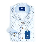 R2 Amsterdam overhemd print lichtblauw (100.WSP.37 - 018)