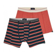 Scotch & Soda boxershort uni en streep 2 pack (145129 - 0218)