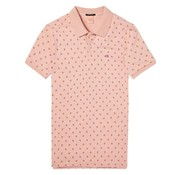 Scotch & Soda classic clean pique polo mini print roze (133053 - 0219)