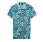 Scotch & Soda classic garment dyed pique polo print (133052 - 0219)