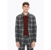 Scotch & Soda colbert checked blazer ruit grijs (145262 - 0219)