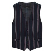Scotch & Soda gilet streep navy (145293 - 0219)
