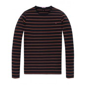 Scotch & Soda longsleeve t-shirt streep navy (145489 - 0219)
