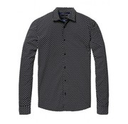 Scotch & Soda overhemd regular fit print zwart (145378 - 0221)