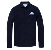 Scotch & Soda overhemd relaxed fit oxford navy (145429 - 0002)