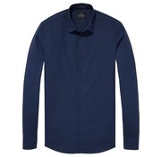 Scotch & Soda overhemd stretch navy (132837 - 58N)