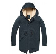 Scotch & Soda Parka Teddy Line Antraciet (145193 - 0562)