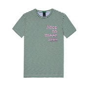Scotch & Soda t-shirt gestreept groen (147372 - 0217)