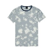 Scotch & Soda t-shirt print blauw (142669 - 0217)
