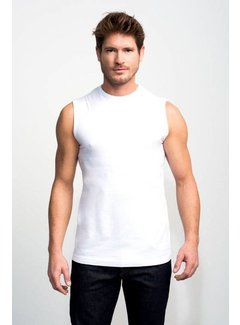 Slater Basic Fit 1Pack Mouwloos T-shirt Wit (1500)