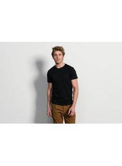 Slater Basic Fit 2pack T-shirt Ronde Hals Zwart (7520)
