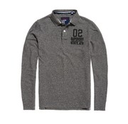 Superdry polo lange mouw antraciet (M11013TP - JQV)