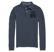 Superdry polo lange mouw blauw (M11013TP - LU4)