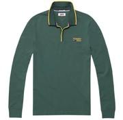 Tommy Hilfiger longsleeve polo groen (DM0DM05193 - 396)