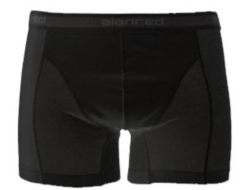 Alan Red Boxershort 1pack Zwart S
