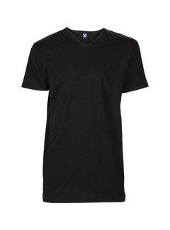 Alan Red V-hals T-shirt Vermont 1pack Zwart (6671SP)