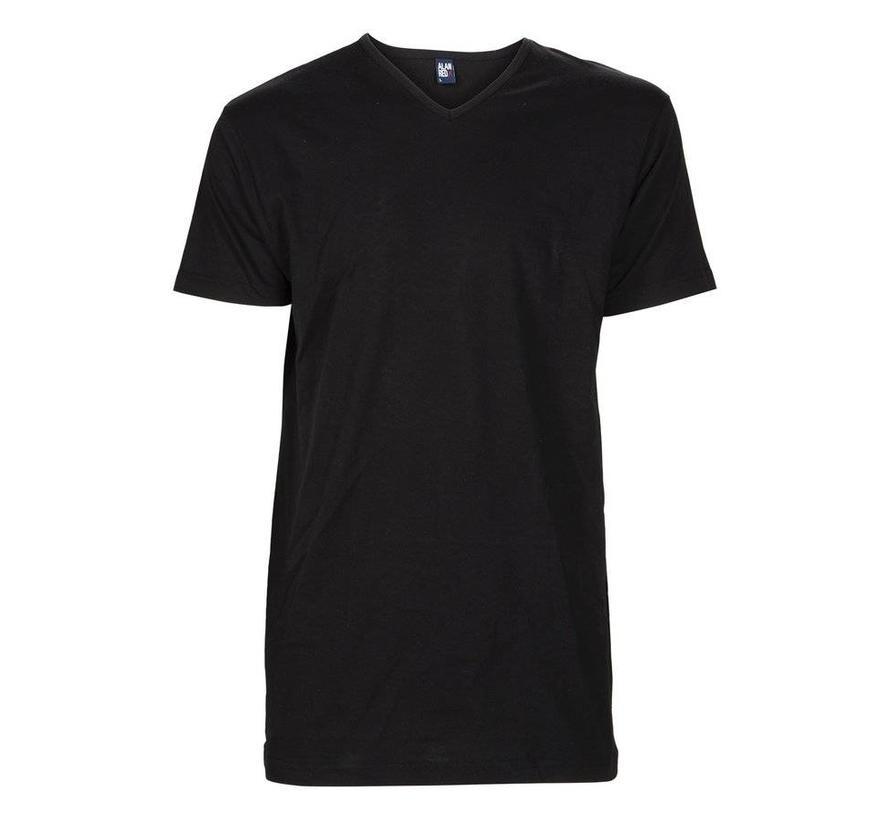 V-hals T-shirt Vermont 1pack zwart (6671SP)