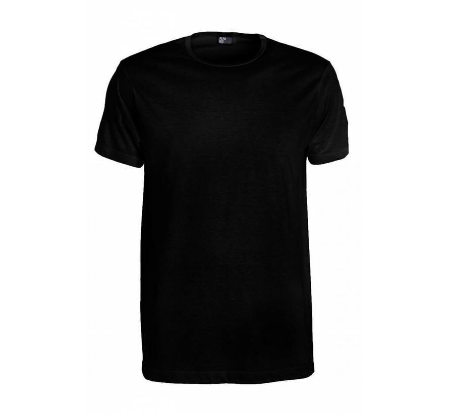 Ronde Hals T-shirt Derby 1-pack Zwart (6672SP)