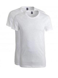 Alan Red T-shirt James 2Pack Ronde Hals Wit (6660)