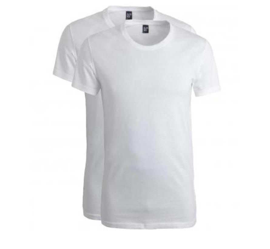 T-shirt James 2Pack Ronde Hals Wit (6660)
