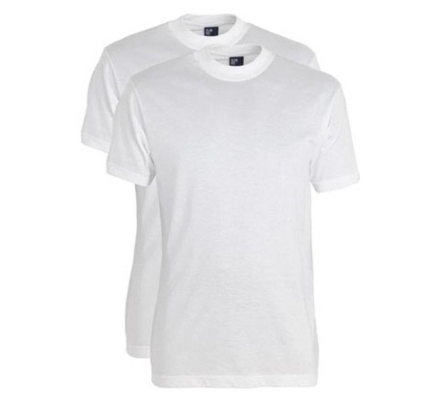 T-shirt Virginia 2Pack Ronde Hals Wit (3129)