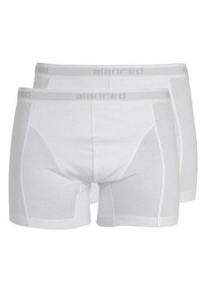 Alan Red Boxershort 2Pack Wit (1009)